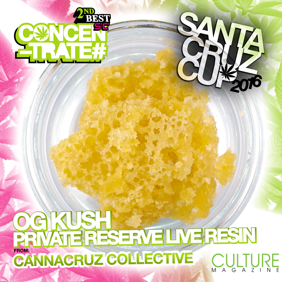 Cannacruz collective private reserve live resin OG Kush